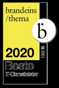"""Auszeichnung """"Beste IT Dienstleister 2020"""""""