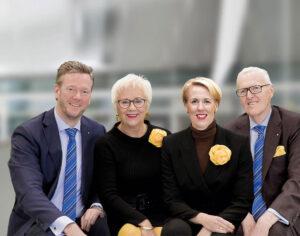 Eigentümerfamilie Philip Harting, Margrit Harting, Maresa Harting-Hertz, Dietmar Harting (v.l.)